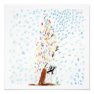 Die Zeichnungen des Tincas. Weihnachtsbaum Fotodruck