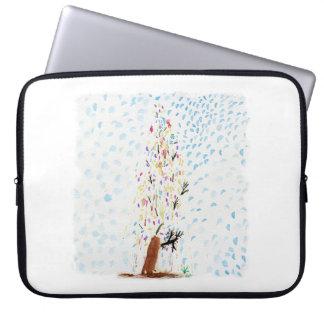Die Zeichnungen des Tincas. Weihnachtsbaum Laptopschutzhülle