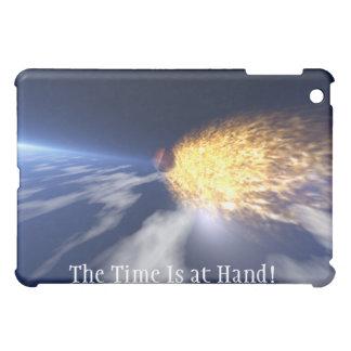 Die Zeit ist ankommender Meteor Ich-Auflage Kasten iPad Mini Hülle