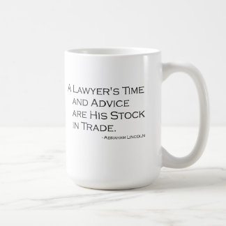 Die Zeit-und RateTasse eines Rechtsanwalts Kaffeetasse