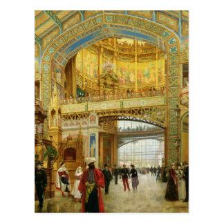 Die zentrale Haube der universellen Ausstellung Postkarte