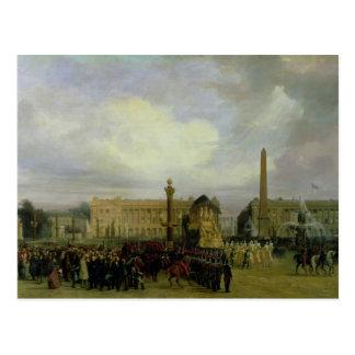 Die Zeremonie für die Rückkehr von Napoleons Asche Postkarte