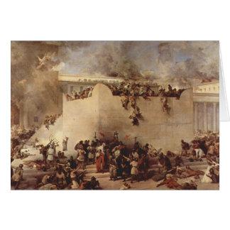 Die Zerstörung des Tempels von Jerusalem Karte
