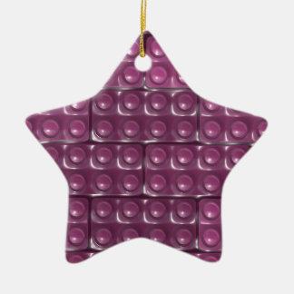 Die Ziegelsteine des Erbauers - Rosa Keramik Ornament