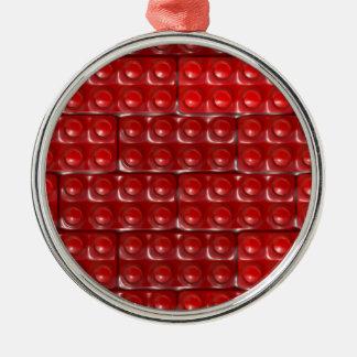 Die Ziegelsteine des Erbauers - Rot Silbernes Ornament
