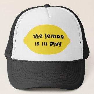 Die Zitrone ist im Spiel-Hut Truckerkappe