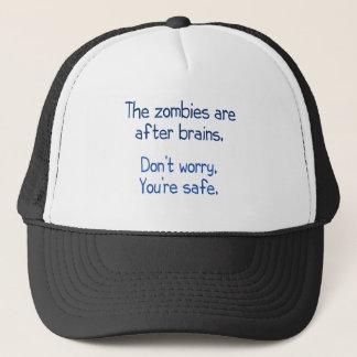 Die Zombies sind nach Gehirnen Truckerkappe