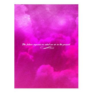 Die Zukunft hängt von ab, was wir im Geschenk tun Postkarte