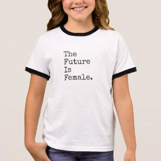 Die Zukunft ist weibliches Kindert-stück Ringer T-Shirt
