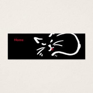 Die Zunge der Katze Mini Visitenkarte