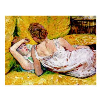 Die zwei Freunde durch Henride Toulouse-Lautrec Postkarte