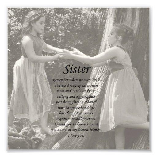 Die zwei kleine Mädchen-Schwester danken Ihnen Fot Photo Druck
