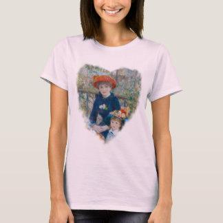 Die zwei Schwestern auf der Terrasse durch Renoir T-Shirt