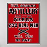 Die zweite Artillerie benötigt 200 wirkliche Poster