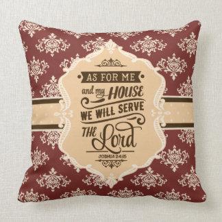 Dienen Sie den Lord Monogram Pillow - Scheunen-Rot Kissen