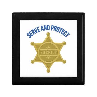Dienen Sie und schützen Sie sich Geschenkbox