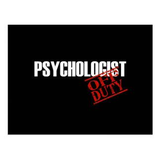 DIENSTFREIE PSYCHOLOGE-DUNKELHEIT POSTKARTE