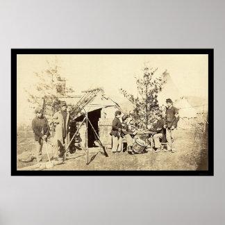 Dienstfreie Schlagzeuger-Jungen-Spielkarten 1862 Plakatdruck