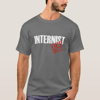 DIENSTFREIER INTERNIST T-Shirt