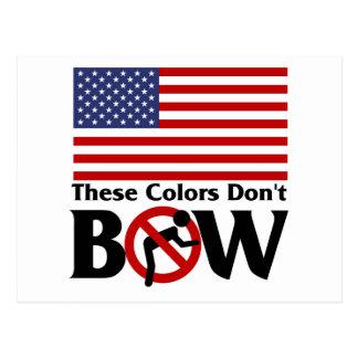 Diese Farben beugen nicht! Postkarte