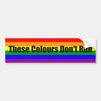 Diese Farben lassen nicht LGBTQ Stolz laufen Autoaufkleber