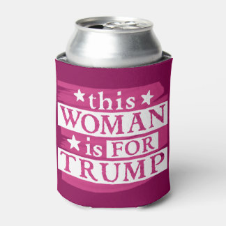 diese Frau ist für Trumpf-Wahl-Gang Dosenkühler
