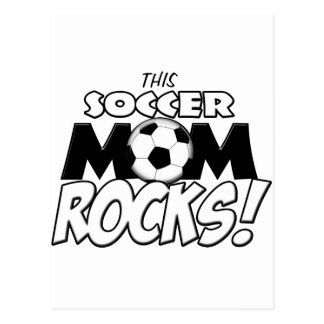 Diese Fußball-Mamma Rocks.png Postkarte
