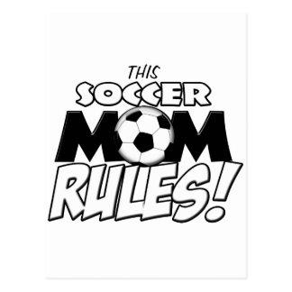 Diese Fußball-Mamma Rules.png Postkarte