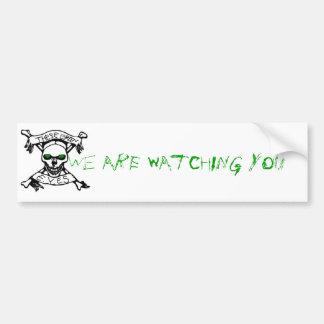 Diese grünen Augen, passen wir Sie Stoßstock auf Autoaufkleber