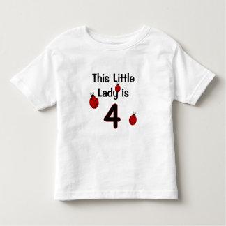 Diese kleine Dame ist 4!  Marienkäfer-T - Shirt