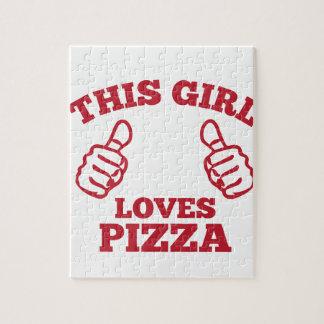 Diese Mädchen-Liebe-Pizza Puzzle