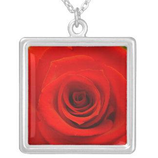 Diese Rose wird die nie Halskette Mit Quadratischem Anhänger