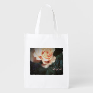 Diese Ruhe-Jahreszeit-August-Rose Wiederverwendbare Einkaufstasche