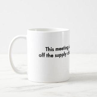 Diese Sitzung ist weg von der Versorgungskette Kaffeetasse