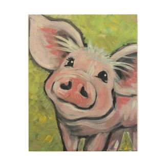 Diese wenig Piggy hölzerne Platten-Kunst Holzdruck