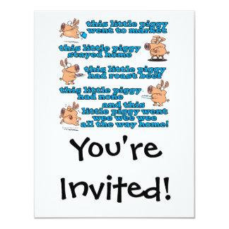 dieser kleine piggy Kinderzimmerreim-Cartoon Einladung