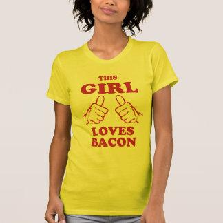 Dieser Mädchen-Liebe Speck T-Shirt