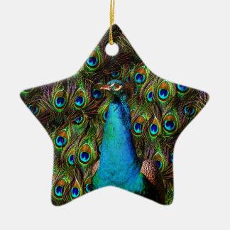 Dieser Pfau passt Sie auf! Keramik Ornament