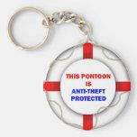 Dieser Ponton ist geschützte der Antidiebstahl Schlüsselband