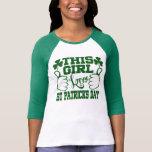 Dieser Tag Mädchen-Liebe-St. Patricks Tshirt