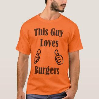 Dieser Typ-Liebe-Burger T-Shirt