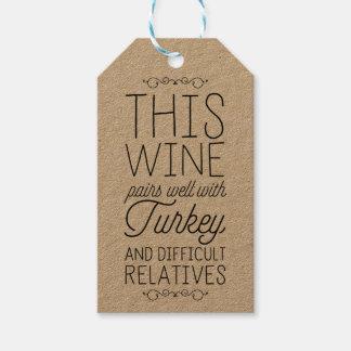 Dieser Wein passt gut mit… zusammen Geschenkanhänger