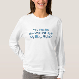 Dieses beendet oben in meinem Blog T-Shirt