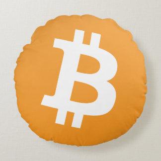 Dieses bitcoin Logokissen ist nett und rund! Rundes Kissen