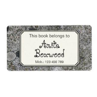 Dieses Buch gehört Name-Felsen-Beschaffenheit