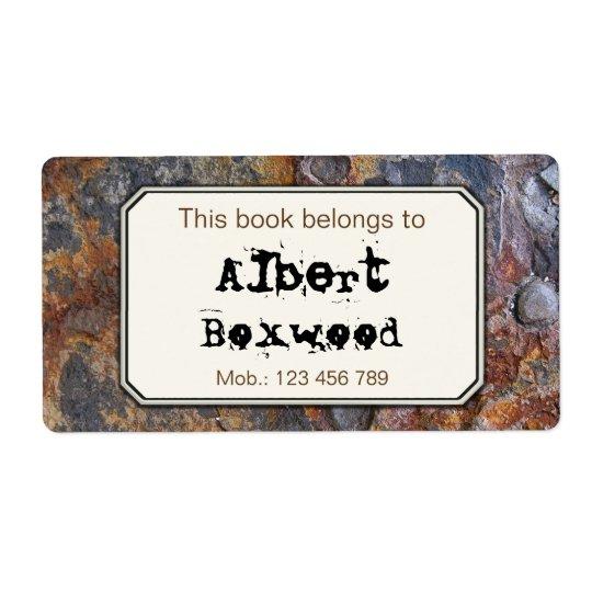 Dieses Buch gehört Name-Felsen-Beschaffenheit Versandetiketten