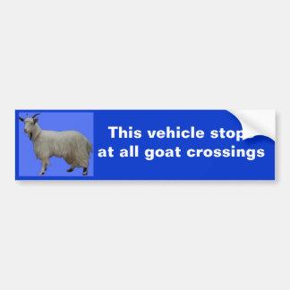Dieses Fahrzeug stopsat alle Ziegenüberfahrten Autoaufkleber