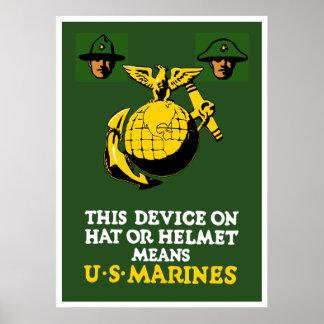 Dieses Gerät bedeutet US-Marinesoldaten Poster