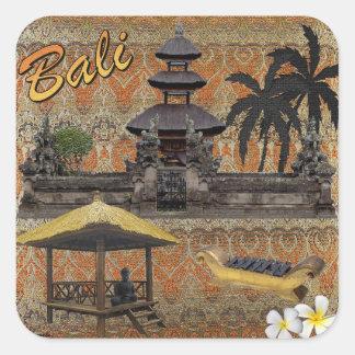 Dieses ist Bali Quadratischer Aufkleber