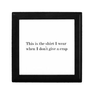 """""""Dieses ist das Shirt, das ich trage, wenn…"""" Erinnerungskiste"""